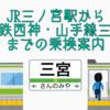 JR三ノ宮から地下鉄三宮
